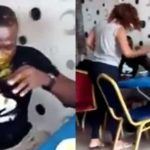 Lady Slaps Her Husband, Pours Soup On Him For Going Out With Side Chic (Photo)