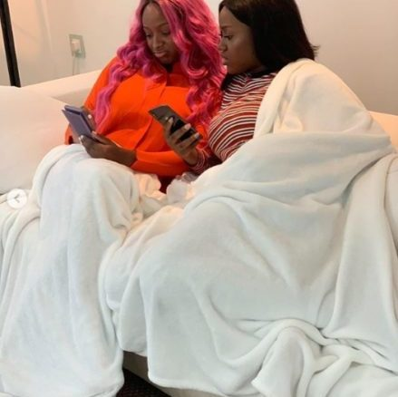 Billionaire's Daughter, Dj Cuppy Meet Davido Girlfriend Chioma (See Photo)