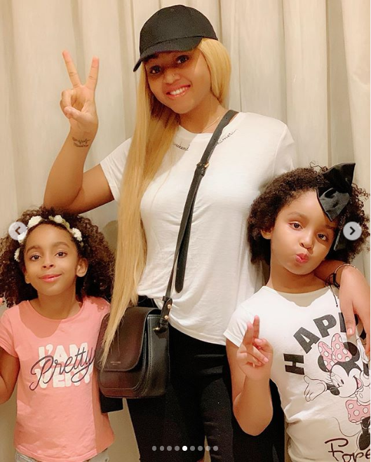 Entertainer Regina Daniels Offers Excellent Family Photographs With Her Stepchildren