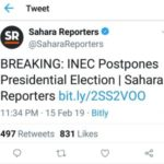 BREAKING: 2019 General Elections Has Been Postponed