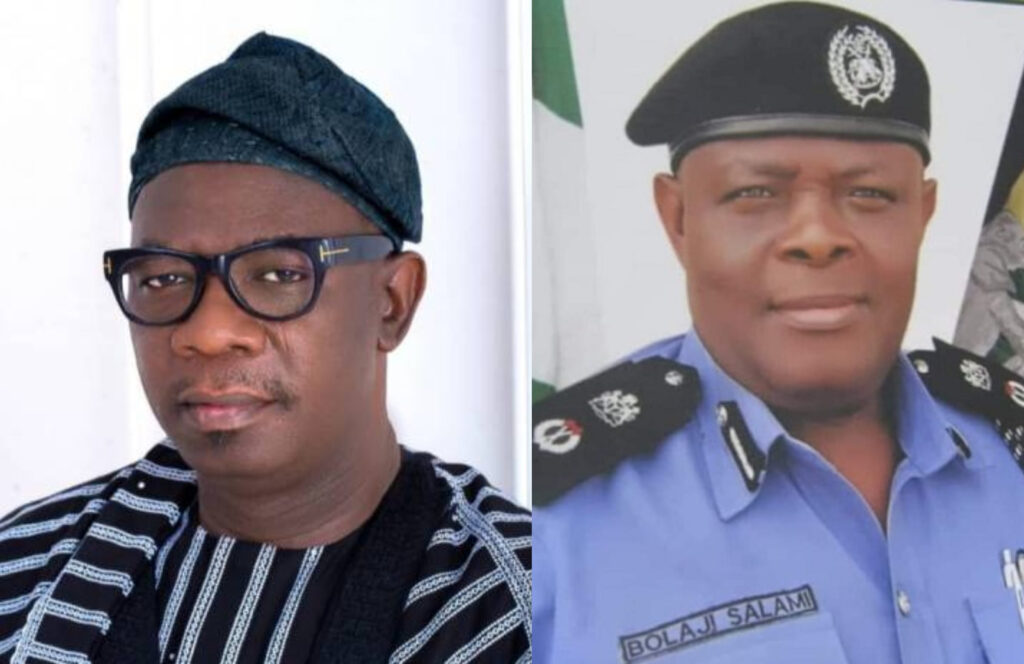Ondo Deputy Governor, Agboola Ajayi accuses the state's police commissioner of withdrawing his police escort