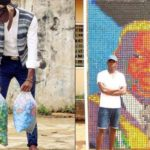 Whaoo!! University of Benin Student Uses Over 6000 Bottle Covers To Make A Portrait Of His Vice Chancellor (Photos)