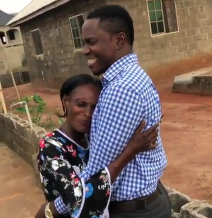 Medical Doctor Dr Lucas paid his mother a surpise visit after being abroad for 7years