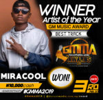 Miracool Won The Best Artist of the Year at GMMA Awards – 2019 Edition