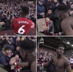 SEE WHAT PAUL POGBA DID  TO A BOY AFTER  SCORING BRACE IN FULHAM VICTORY.