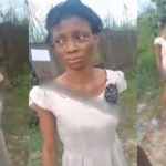 Lady and her baby beaten, thrown inside gutter by brother in-law for disturbing his sleep (video)
