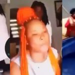 Lady teams up with her friends to break boyfriend's car windscreen for cheating on her (Video)