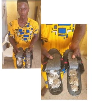 This Man Got Arrested For Using Sandals To Smuggle Cannabis Into Abuja Prison