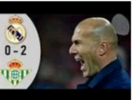 WATCH Highlights Video: Real Madrid 0 – 2 Real Betis » La Liga