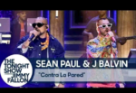 "WATCH VIDEO: Sean Paul And J Balvin Perform ""Contra La Pared"" Live On The Tonight Show"