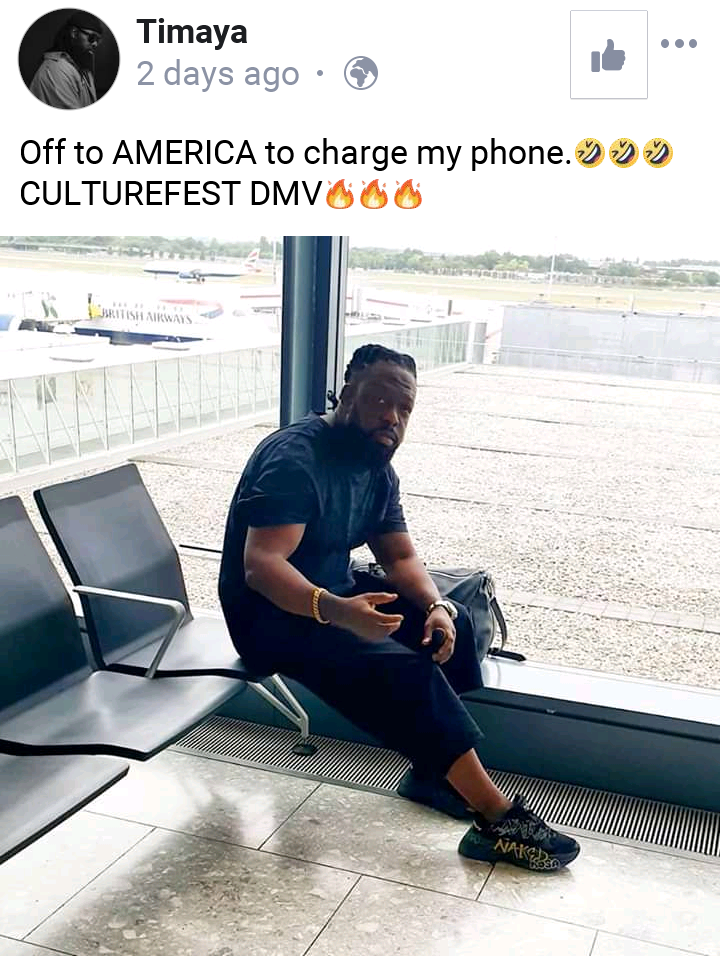 TIMAYA – I'm Off To Charge My Phone In America