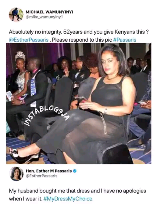 Kenyan Lawmaker Refuses To Apologize For Stepping Out In A Transparent Outfit