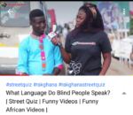 GIST: What Language Do Blind People Speak?... (Watch Street Quiz Funny Videos)