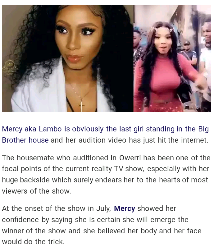 Video of Nigerian Lady Who Stood BBNaija Last Audition In Owerri - (Mercy)