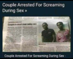 Husband And Wife Arrested For Making Noise During $£X