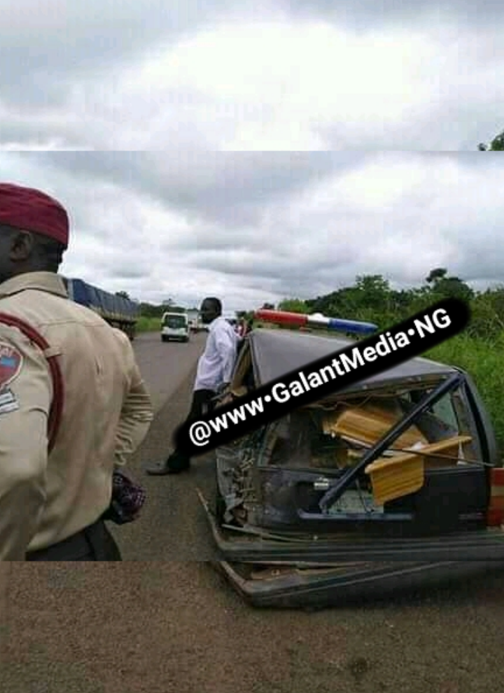 NNPC Petrol Tanker Moving With Speed Crush Ambulance Carrying Dead Body In Benue State