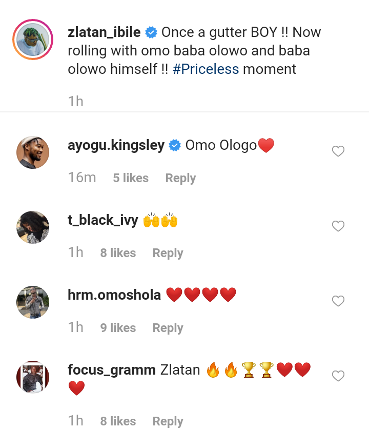 Read What Zlatan Said When He Meet Father of Davido At Atlanta