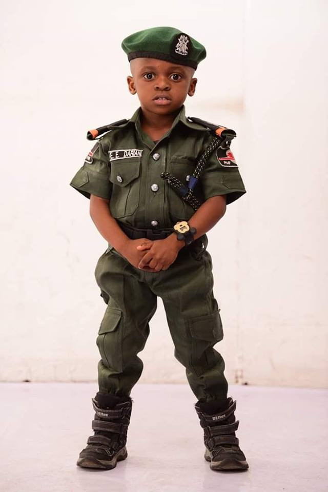 Must Read!  Boy Stuns With His Mobile Police- themed Birthday Photos
