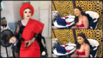 See How Bobrisky Used Bottle Of Wine As Invitation Card For His Birthday
