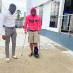 Davido Spotted Using Crutches To Walk After Breaking His Leg (Photo)