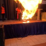 Fire Outbreak In University Of UYO While Instructors Teach Freshers In Orientation Hall