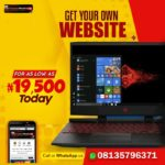 Get A Professional Website/Personal Blog your Online Business – (N19,500 only)
