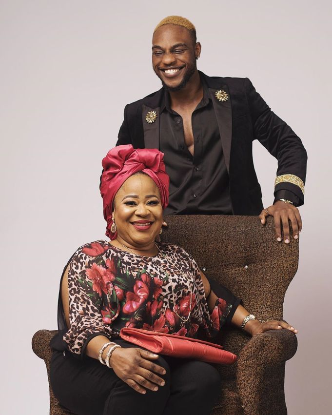 Nigerian Singer Lax On IG Celebrate His Mothers' Birthday Esther Afolabi