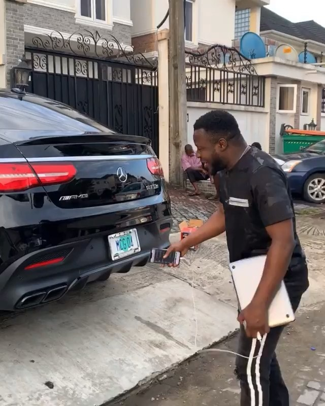 MC Galaxy Buys Brand New Car Mercedes AMG After Giving Frodd N500K
