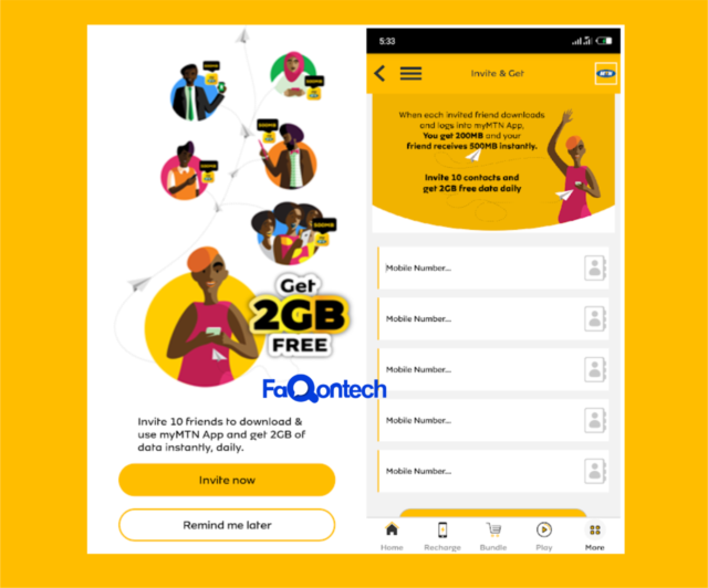 How To Get Ur Free 2GB Data Bundle On MyMTN App 100% Working