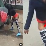VIDEO:— Angry Prostitute Damage Car of the Man who refused to Pay her Money after Marathon $£X in Guest house