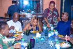 Nwoko Wife, Regina Daniels Hold Private Dinner To Thank His Team