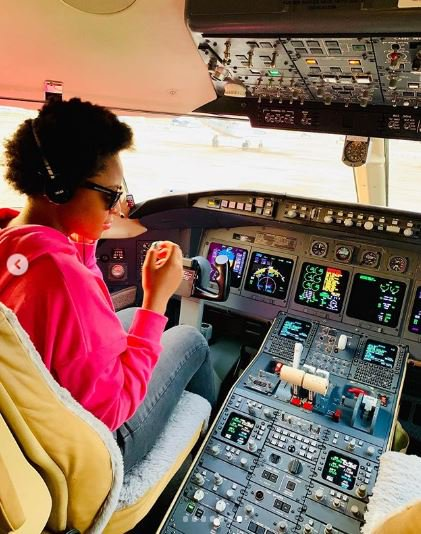 HAPPINESS: Regina Daniels Congratulates Husband For Acquiring A Private Jet