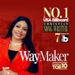 Sinach Okoro Proud With Her Music As She Rank No.1 on USA Billboard of Christian Songwriters Chart