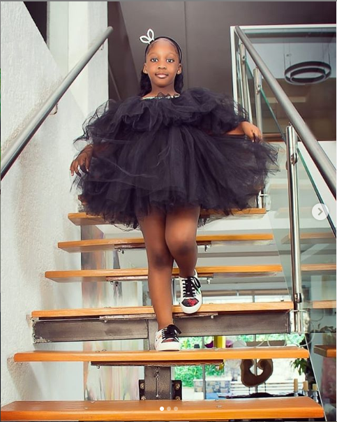 "Timaya's First Daughter ""EMMA"" Celebrates Her 7th Birthday (See Pics)"