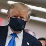 US President, Donald Trump, Wears COVID-19 Prevention Mask In Public For First Time