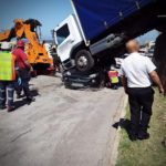 26-year-old Woman Escaped Death As Truck Landed On Top Of Her Car In An Accident