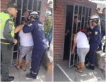 #LOL! Woman Spying On Neighbor Gets Her Head Stuck In A Metal Gate For 5 Hours